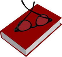 Photo of book with reading glasses
