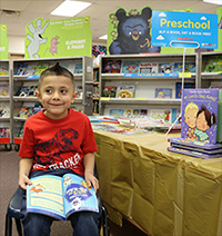 Photo of preschool student reading
